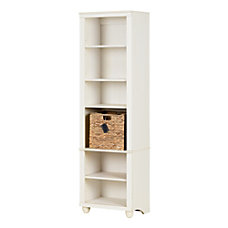 office depot bookcases wood. Delighful Bookcases South Shore Hopedale Narrow 6 Shelf Inside Office Depot Bookcases Wood D