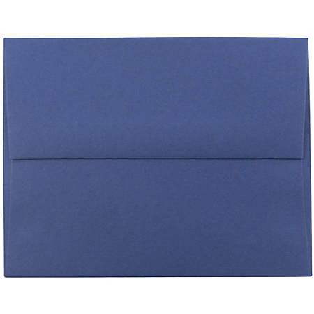 "JAM Paper® Booklet Invitation Envelopes, A10, 6"" x 9 1/2"", Presidential Blue, Pack Of 25"