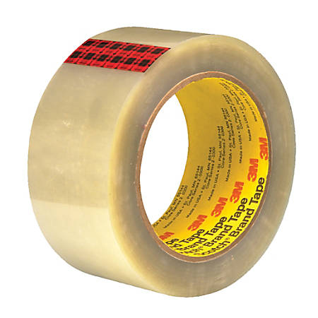 "3M™ 351 Carton Sealing Tape, 3"" Core, 2"" x 55 Yd., Clear, Case Of 36"