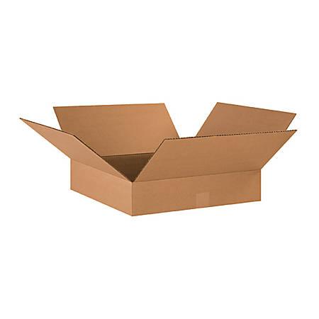 "Office Depot® Brand Flat Corrugated Boxes 17"" x 17"" x 4"", Bundle of 25"