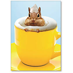 Viabella Thank You Greeting Card Latte