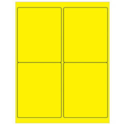 Office Depot Brand Labels LL181YE Rectangle