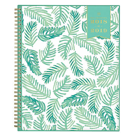 "Day Designer For Blue Sky™ Weekly/Monthly Planner, 11"" x 8 1/2"", Palm, July 2018 to June 2019"