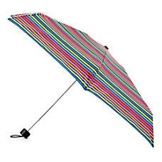 Totes Purse Umbrella Small Colorful Stripes