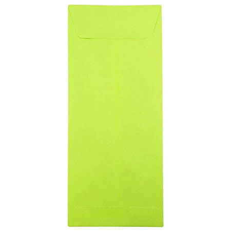 """JAM Paper® Open-End Policy Envelopes, #14, 5"""" x 11 1/2"""", Ultra Lime Green, Pack Of 25"""