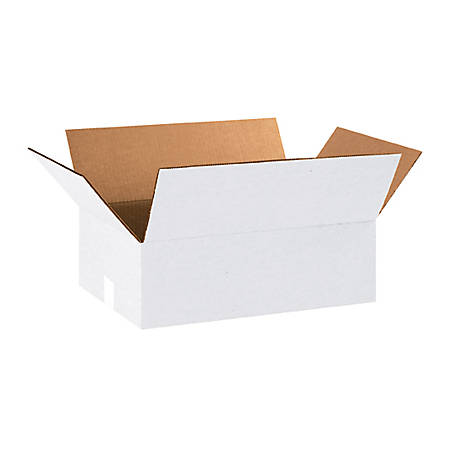 """Office Depot® Brand White Corrugated Boxes 18"""" x 12"""" x 6"""", Bundle of 25"""
