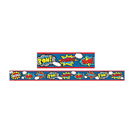 "Teacher Created Resources Border Trim, Straight, 3"" x 35"", Superhero, Pre-K - College, Pack Of 12"