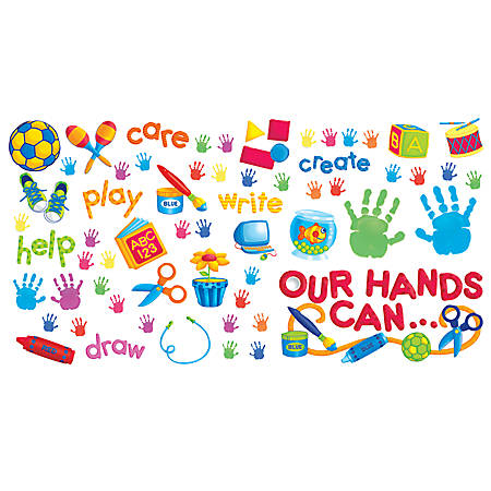 """Scholastic Our Hands Can Bulletin Board, 24""""L"""
