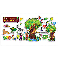 Scholastic Jungle Treehouse Bulletin Board 24