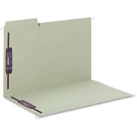 """Smead FasTab Hanging Fastener Folder - Legal - 8 1/2"""" x 14"""" Sheet Size - 2 Fastener(s) - 1/3 Tab Cut - Assorted Position Tab Location - 11 pt. Folder Thickness - Stock - Moss - Recycled - 18 / Box"""
