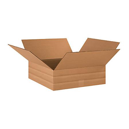 "Office Depot® Brand Multi-Depth Corrugated Boxes 18"" x 18"" x 6"", Bundle of 20"