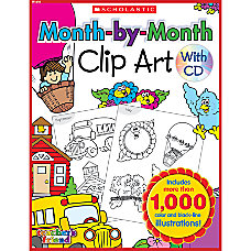 Scholastic Month By Month Clip Art