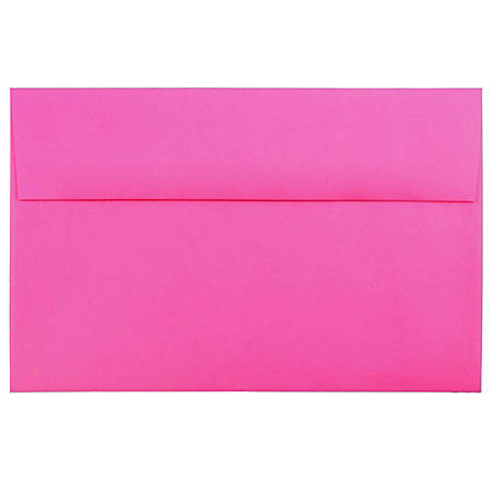 "JAM Paper® Booklet Invitation Envelopes, A10, 6"" x 9 1/2"", Ultra Fuchsia, Pack Of 25"