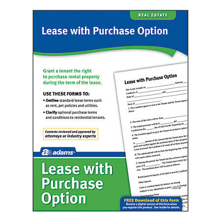 Adams® Lease With Purchase Option