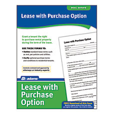 Adams Lease With Purchase Option