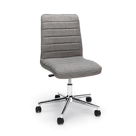 Essentials By OFM Mid-Back Desk Chair, Fabric, Gray/Chrome