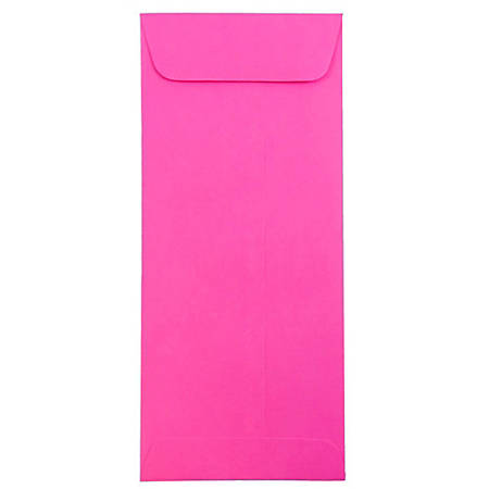"JAM Paper® Policy Envelopes, #10, 4 1/8"" x 9 1/2"", Ultra Fuchsia, Pack Of 25"