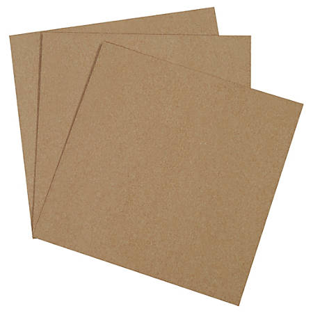 "Office Depot® Brand Chipboard Pads, 12"" x 12"", 100% Recycled, Kraft, Case Of 625"
