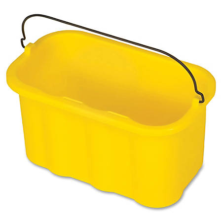 "Rubbermaid Commercial 10-quart Sanitizing Caddy - 10 quart - 8"" x 14"" x 7.5"" - Yellow"