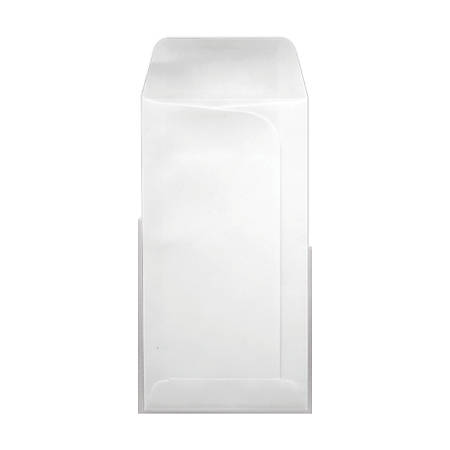 "LUX Large Drive-In Banking Envelopes With Peel & Press Closure, #7, 3 3/4"" x 7"", White, Pack Of 500"