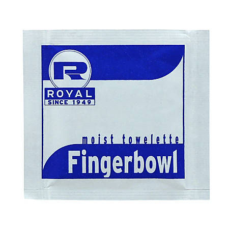 "Royal Paper Products Moist Towelettes, Lemon Scent, 8 1/2"" x 7"", Pack Of 1,000 Towelettes"