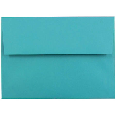"""JAM Paper® Booklet Invitation Envelopes (Recycled), A7, 5 1/4"""" x 7 1/4"""", 30% Recycled, Sea Blue, Pack Of 25"""