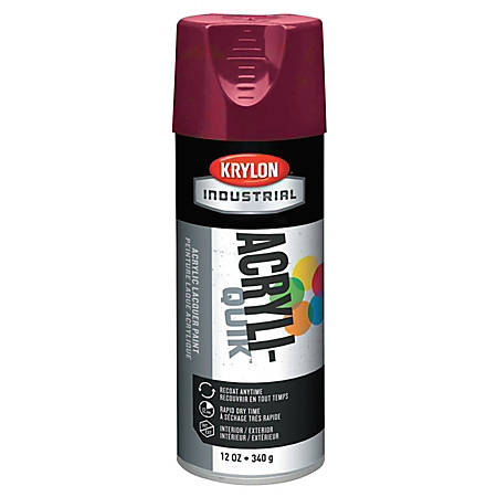 Krylon® Interior/Exterior Industrial Maintenance Paint, 12 Oz Aerosol Can, Cherry Red
