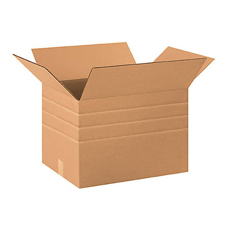 20in(L) x 12in(W) x 12in(D) - Corrugated Multi-Depth Shipping Boxes