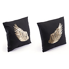 Zuo Modern Metallic Wings Pillows BlackGold