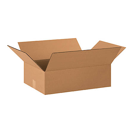 "Office Depot® Brand Flat Corrugated Boxes 20"" x 15"" x 6"", Bundle of 25"
