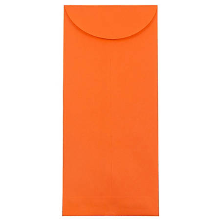 """JAM Paper® Open-End Policy Envelopes, #14, 5"""" x 11 1/2"""", 30% Recycled, Orange, Pack Of 25"""