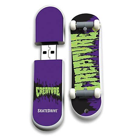 Action Sport Drives® Creature® SkateDrive® USB Flash Drive, 16GB, SkateHorde, CR-SKATETX/16G