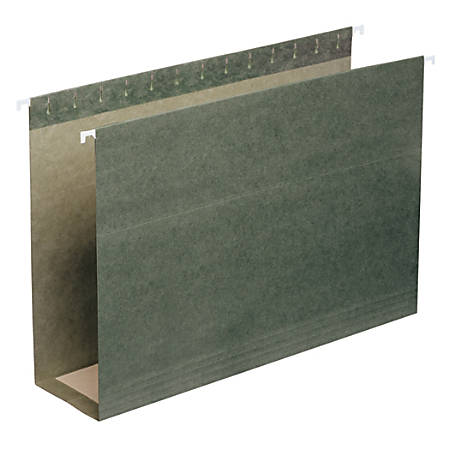 """Smead® Premium Box-Bottom Hanging Folders, 3"""" Expansion, Legal Size, Standard Green, Box Of 25"""