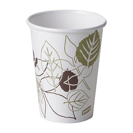 Dixie® Paper Hot Cups, 12 Oz, Pathways, Sleeve Of 50 Cups