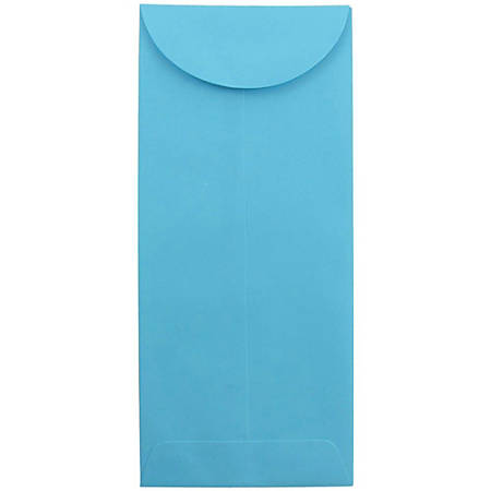 """JAM Paper® Open-End Policy Envelopes, #11, 4 1/2"""" x 10 3/8"""", 30% Recycled, Blue, Pack Of 25"""