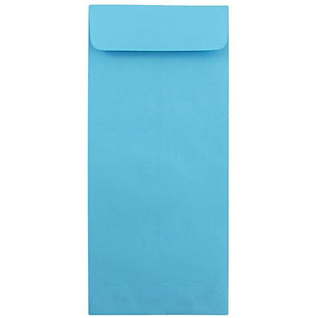 "JAM Paper® Open-End Policy Envelopes, #12, 4 3/4"" x 11"", 30% Recycled, Blue, Pack Of 25"
