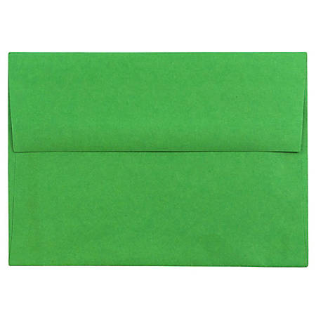 "JAM Paper® Booklet Invitation Envelopes (Recycled), A6, 4 3/4"" x 6 1/2"", 30% Recycled, Green, Pack Of 25"