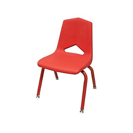 "Marco Group Stacking Chairs, 26""H, Red/Red, Pack Of 6"
