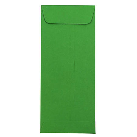 "JAM Paper® Policy Envelopes, #10, 4 1/8"" x 9 1/2"", 30% Recycled, Green, Pack Of 25"
