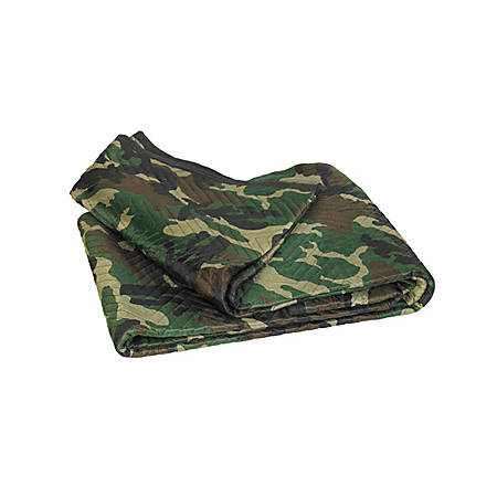 """B O X Packaging Moving Blankets, 72"""" x 80"""", Camouflage, Pack Of 6"""