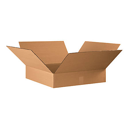 22in(L) x 22in(W) x 4in(D) - Corrugated Shipping Boxes