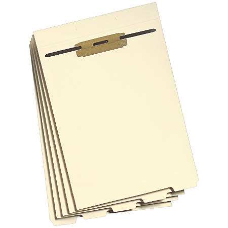 Smead® End-Tab Folder Dividers With Fasteners, Letter Size, Manila, Box Of 50