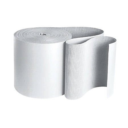"Partners Brand White Singleface Corrugated Roll 36"" x 250'"