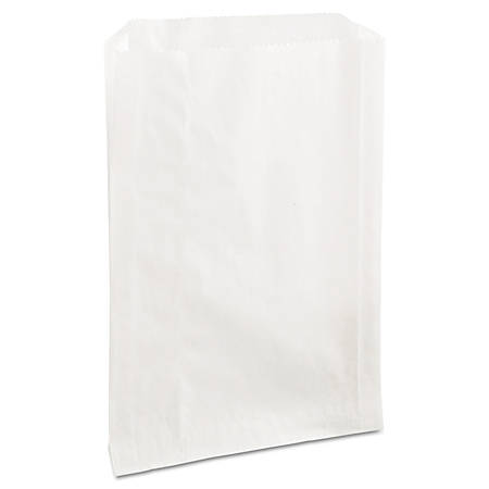 """Bagcraft PB25 Grease-Resistant Sandwich Bags, 8"""" x 6 1/2"""", White, Carton Of 2,000 Bags"""