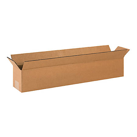 """Office Depot Brand Long Corrugated Boxes 24"""" x 6"""" x 4"""", Bundle of 25"""