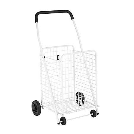 """Honey-Can-Do Steel Jumbo Multipurpose Utility Cart, 36 7/8""""H x 21 1/4""""W x 16 3/4""""D, White"""
