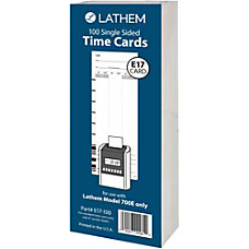 Lathem Model 700E Clock Single Sided