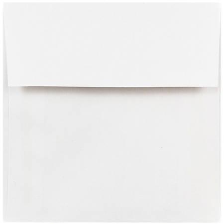 """JAM Paper® Square Invitation Envelopes, 5"""" x 5"""", White, Pack Of 25"""