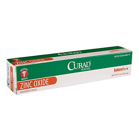 CURAD® Zinc Oxide Anorectal Cream, 2 Oz, Pack Of 12