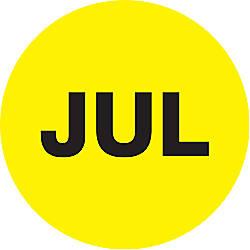 Tape Logic Yellow JUL Months of